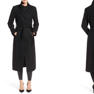 Kenneth Cole Fencer Melton Wool Maxi Coat Sz 2